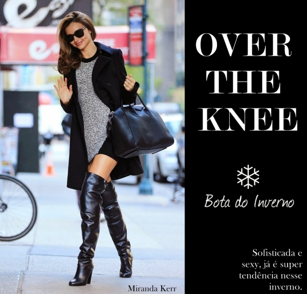 Bota Over the Knee por Miranda Kerr